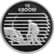 10 krooni (Indépendance) – revers