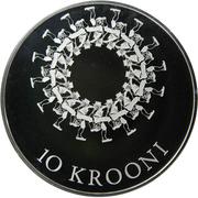 10 krooni (Festival de chanson et de danse) – revers