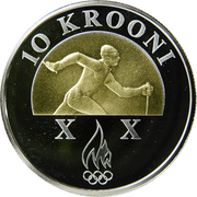 10 krooni (Jeux Olympiques Turin 2006) – revers