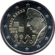 2 euros Paul Keres -  avers