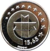 15,65 krooni (Euro) – revers