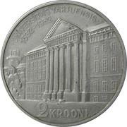 2 krooni (Université de Tartu) – revers