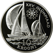 10 krooni (Jeux Olympiques de 1992) – revers