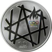 10 krooni (Jeux Olympiques Pékin 2008) – revers