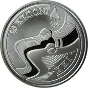10 krooni (Jeux Olympiques d'hiver Vancouver 2010) – revers