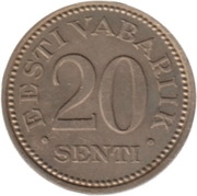 20 senti – revers