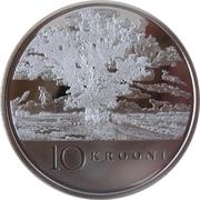 10 krooni (90 ans de la République) – revers