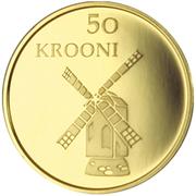 50 krooni (Anniversaire de la République) – revers