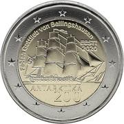 2 euros Antarctique -  avers