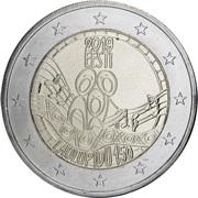 2 euros Festival estonien de la chanson -  avers