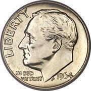 """10 cents """"Roosevelt Dime"""" (argent) -  avers"""