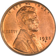 """1 cent """"Lincoln - Wheat Penny"""" (bronze) -  avers"""