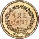 """1 Cent """"Indian Head"""" (sans bouclier) – revers"""