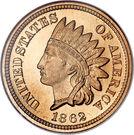 "1 cent ""Indian Head"" (avec bouclier) – avers"