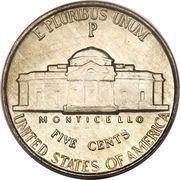 """5 cents """"Jefferson Nickel"""" (temps de guerre) -  revers"""