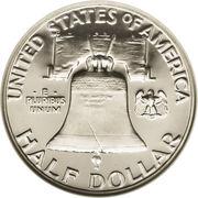 "½  dollar ""Franklin Half Dollar"" -  revers"
