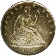 ½  dollar États confédérés d'Amérique – avers