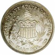 ½  dollar États confédérés d'Amérique – revers
