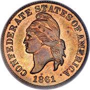 1 cent - États confédérés d'Amérique (Cupronickel) – avers