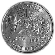 ½ dollar Mt. Rushmore -  avers