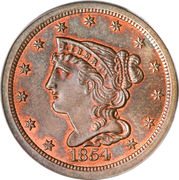 "½ cent ""Braided Hair"" – avers"