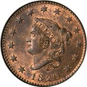 "1 cent ""Coronet / Matron"" (Type 1) – avers"