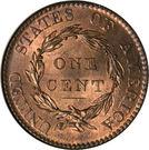 """1 cent """"Coronet / Matron"""" (Type 1) – revers"""
