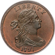 "1 cent ""Draped Bust"" – avers"