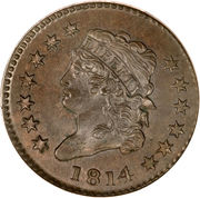 "1 cent ""Capped Bust - Classic Head"" – avers"