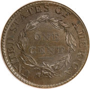 "1 cent ""Capped Bust - Classic Head"" – revers"