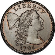 "1 cent ""Liberty Cap"" – avers"