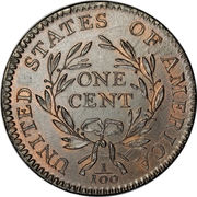 "1 cent ""Liberty Cap"" – revers"