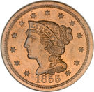 "1 cent ""Braided Hair"" – avers"