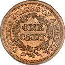 "1 cent ""Braided Hair"" – revers"