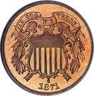 "2 cents ""Union Shield"" – avers"