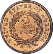 """2 cents """"Union Shield"""" -  revers"""