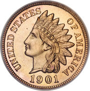 "1 cent ""Indian Head"" (bronze) -  avers"