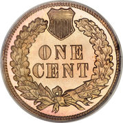 "1 cent ""Indian Head"" (bronze) -  revers"
