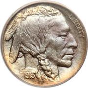 """5 cents """"Buffalo Nickel"""" (sol surélevé) -  avers"""