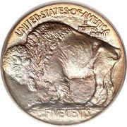 """5 cents """"Buffalo Nickel"""" (sol surélevé) -  revers"""