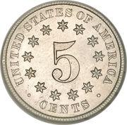 """5 cents """"Union Shield"""" (sans rayon) -  revers"""