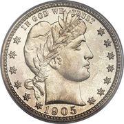 "25 cents ""Barber Quarter"" -  avers"