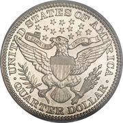 "25 cents ""Barber Quarter"" -  revers"