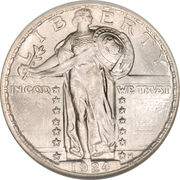 """25 cents """"Standing Liberty Quarter"""" (2nd Type) -  avers"""