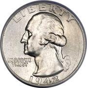 """¼ dollar """"Washington Quarter"""" (argent) -  avers"""