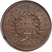 ½ Cent -  revers