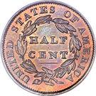 ½ Cent – revers