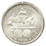 """½  dollar """"Colombian Exposition"""" -  revers"""