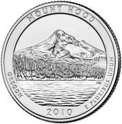 "¼ Dollar ""Quarter Mount Hood, Oregon"" (argent) -  revers"