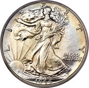 "½  dollar ""Liberty Walking"" -  avers"